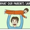 13 illusztráció arról, hogyan láttuk mi a gyerekkorunkat és hogyan a szüleink