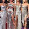 17 híresség, 17 csodaszép, csillogó ezüst ruha