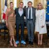 A francia elnökkel találkozott Hailey és Justin Bieber