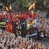 A spanyolok óriási fiesztát csaptak Madridban