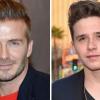 David Beckham beégette a fiát