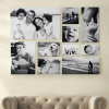 Fotóalbum a nappali falán
