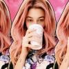 Hailey Baldwin pinkre festette a haját