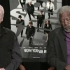 Interjúja alatt aludt el Morgan Freeman