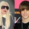 Justin Bieber megelőzte Lady Gagát