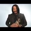 Keanu Reeves kiskutyákkal játszott interjú közben