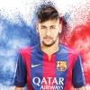 Messi után Neymar is szőke lett