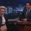 Miley Cyrus bugyiban ment Jimmy Kimmelhez