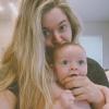 Sasha Pieterse cuki képeket posztolt kisbabájáról