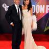 Szupercuki képek készültek George és Amal Clooney-ról a The Tender Bar londoni bemutatóján