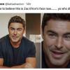 Zac Efron arcát csúnyán elszabták: szinte felismerhetetlen a színész