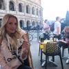 Zimány Linda Rómában pihent