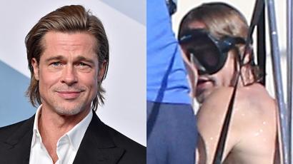 57 éves és még mindig vonzó: Brad Pitt megmutatta tetoválásait – fotók!