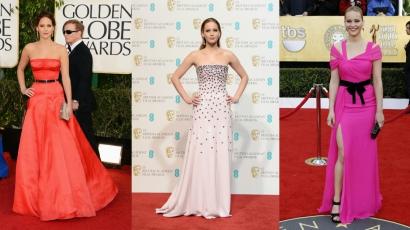 A legszebb és legrosszabb ruhákban — Jennifer Lawrence