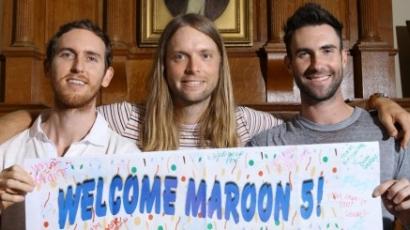 A Maroon 5 gyermekkórházban járt