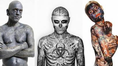 A világ 10 legextrémebben tetovált embere