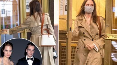 Angelina Jolie-t exférje lakásánál kapták lencsevégre