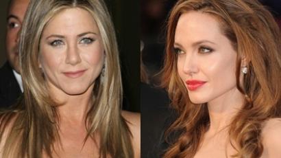 Angelina Jolie virágot kapott Jennifer Anistontól