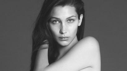 Anyaszült meztelenül állt modellt Bella Hadid a Vogue-nak