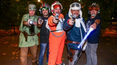 Az Irigy Hónaljmirigy tagjai Star Wars szereplőknek öltöztek – fotók