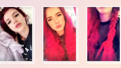 Bella Thorne haja most Barbie pink lett