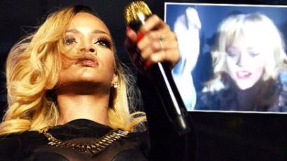 Botrány! Arcon ütötte rajongóját Rihanna!