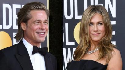 Brad Pitt a szerelmi életéről poénkodott, és mindenki Jennifer Anistont nézte