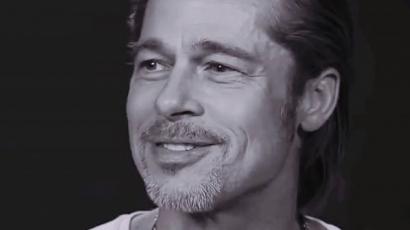 Brad Pitt elmesélte első csókját
