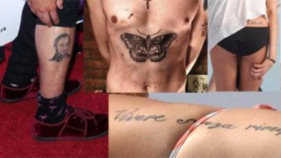 Celebek és borzalmas tetoválásaik