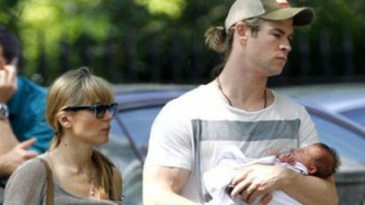 Chris Hemsworth nagyon jó apa