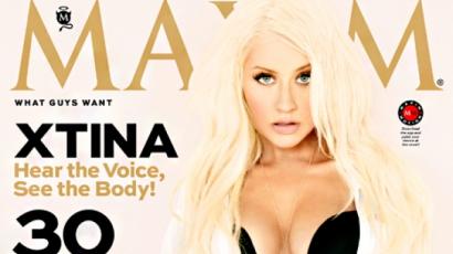 Christina Aguilera férfimagazinnak pózolt