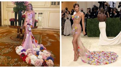 Cikis divatbaki: ugyanolyan ruhát viselt Irina Shayk és Lili Reinhart a MET-en