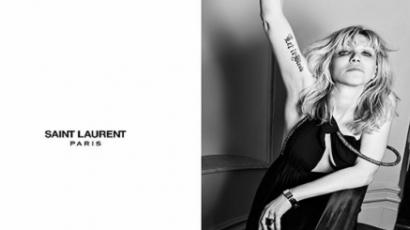 Courtney Love is pózol a Saint Laurentnek