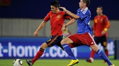 David Villa beérte Raúlt
