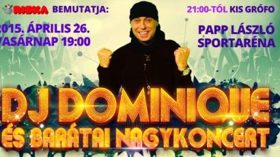 DJ Dominique és barátai jótékonysági koncert a Sportarénéban
