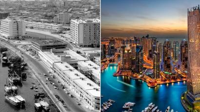 Döbbenet! Ennyit változott Dubaj 60 év alatt
