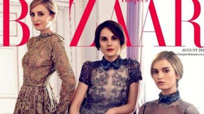 Downton Abbey hölgyei az angol Harper's Bazaar címlapján
