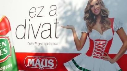 Dukai Regina felvágottat reklámoz