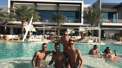 Dzsudzsák Balázs világsztárokkal bulizott Dubajban