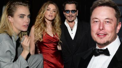 Édeshármas? Elon Musk így reagált a vádakra, miszerint összefeküdt Amber Hearddel és Cara Delevingne-nel