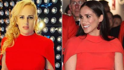 Egyformában: Rebel Wilson ugyanazt a piros ruhát viselte, mint korábban Meghan Markle