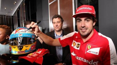 Fernando Alonso és Jacky Bracamontes a Hublot megnyitóján jártak
