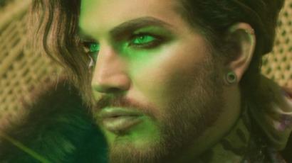 Fotó! Zöldre festette a haját Adam Lambert
