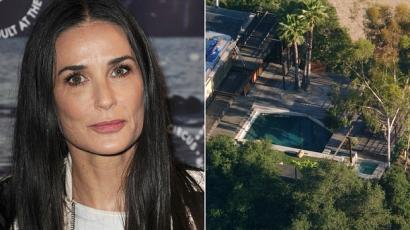 Holtan találtak egy fiatal férfit Demi Moore medencéjében