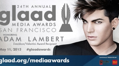 Adam Lambertöt tünteti ki a GLAAD Media Awards