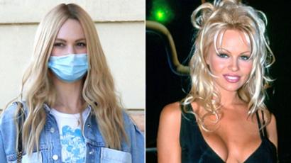Így fest Lily James Pamela Andersonként – fotó!