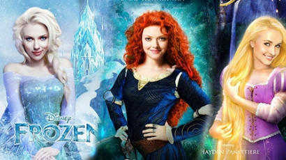 Így festenek a mai sztárok Disney-hercegnőként