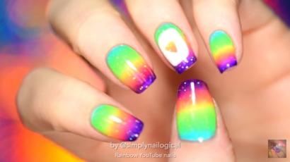 Így készíts szivárványszínű körmöket magadnak – videó