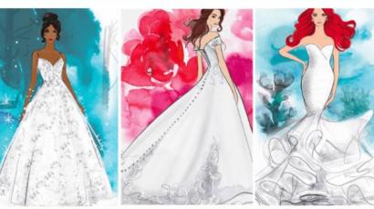 Így nézne ki Tiana, Ariel és Belle menyasszonyi ruhája