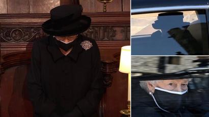 II. Erzsébet királynő könnyekkel a szemében érkezett meg Fülöp herceg temetésére